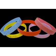 12mm Width Fashion Silicone Wristband