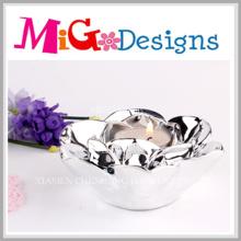 Candelero de cerámica de la boda en forma de flor elegante