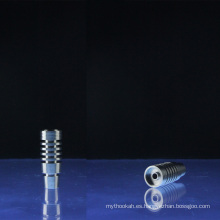 Diseños del disipador de calor de Domeless 14mm y 18mm Universal Titanium Nail (ES-TN-008)