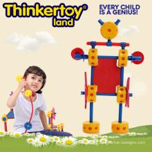Pré-escolar de plástico Indoor Nursery Construction System Toy