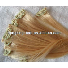 Volumizer Clip en extensión de cabello Indio profunda extensión de pelo rizado para mujeres negras