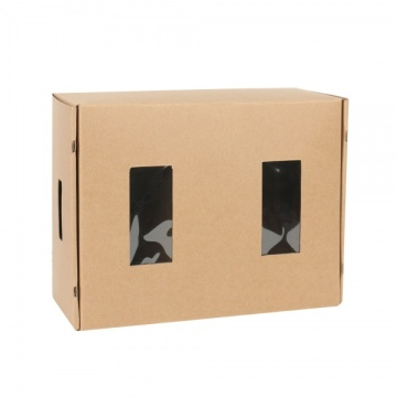Kraft paper foldable candle packaging box