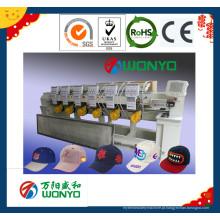 Máquina principal do bordado de 6 cabeças para o t-shirt / tampões / indústria lisa do bordado