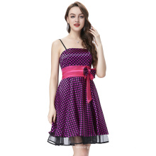 Starzz 2016 Sexy Spaghetti Straps Polka Dots Satin Cocktail Dress ST000087-2
