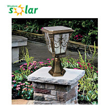 High quality die-casting aluminum post lamp / outdoor gate solar lighting / solar pillar lamp JR-CP13