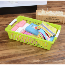 PP plastic top quality multipurpose storage basket plastic with handle