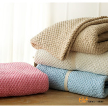 2017 Spring Knitted Plain Cotton Baby Throw Blamkets
