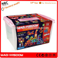 2016 Mag Wisdom Super 3D Magnetic Christmas Holiday kid Toys 218pcs Super Set