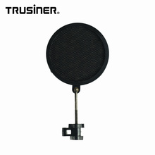 Flexible Wind Pop Filter Mask Shield for Microphone Mic with Stand Clip