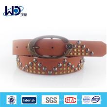 Women fashion rivet studded metal belt