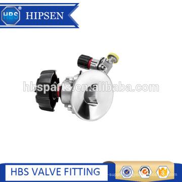 stainless steel tank bottom diaphragm valve with mini type diaphragm valve