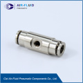 Quick Clamp PD Branch Tee Zinc Brass Pneumatic Tube Fittings