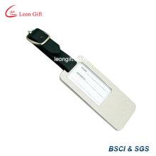 Etiqueta de bagagem prata de liga de zinco para o presente da promoção