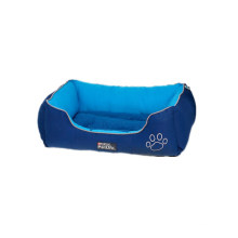 Warm Lounge Sleeper Blue Dog Bed