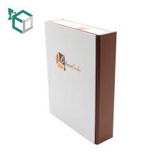 Caja de empaquetado del papel de arte del chocolate del nivel del papel de la caja de la forma del libro de lujo con la tapa