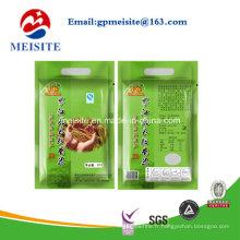Impression composée plastique Emballage alimentaire Poignée Sac de riz