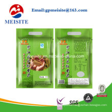 Plastic Compound Printing Food Packaging Handle Rice Bag