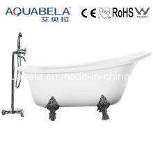 Luxury Acrylic Clawfoot superficies sólidas Hot Tubs (JL624)