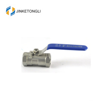 JKTL1B026 spring loaded 1pc spring return ss316 wog ball valve