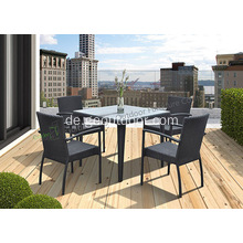 Quadratischer 5-teiliger Wicker Patio Dining Set