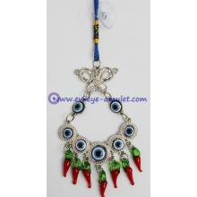 Wholesale Evil Eye Amulet With Butterfly Car Hanging Decoration Ornament