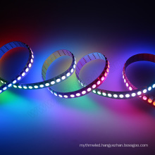 Popular hot selling DC5V addressable digital rgb led flexible strip APA102C 144 leds/m
