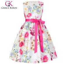 Grace Karin Children Girls Floral Pattern Sleeveless Round Neck Party Dress 2 Year Old Grl Dress Kids Dress CL008997-1