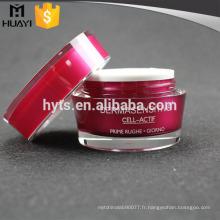 Pot crème crème acrylique ronde de 15,30,50ml pour l'emballage cosmétique