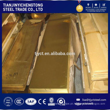 Folha de bronze de liga de zinco de cobre H62 C28000 CuZn38 / placa de bronze