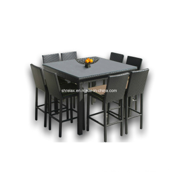 Patio Rattan Outdoor Furniture Garden Wicker Bar Stool Set