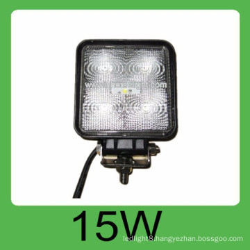 2015 lastest 15W DC10V-30V IP67 off road led light with 3 years warranty