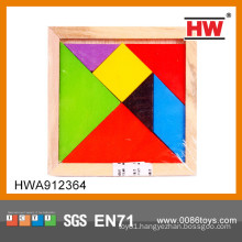 Educational wooden puzzle toy tangram puzzle