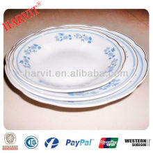 cheap ceramic cut edge soup plate with GGK and flower