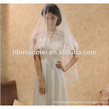 Boutique Hot sell white color bride long wedding veil