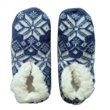 Floco de neve malha sapatos de piso meias para a Primavera de Outono e Inverno