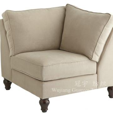 Tissu en cuir de tapisserie d'ameublement 100% de daim de polyester pour le sofa