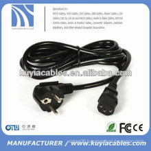 High quality 1.8M BLACK EU AC POWER CORD CABLE FOR COMPUTER