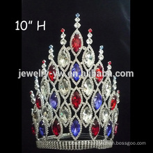 Fashion metal full rhinestones pageant crowns for women