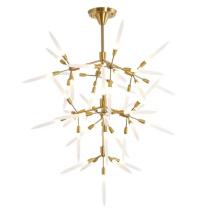 Zhongshan guzhen cheap led hanging lamp hotel living room luxury modern chandeliers pendant lights