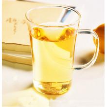 Copa de té de vidrio borosilicato sin plomo con mango