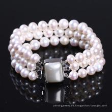 Pulsera para pulsera de perlas de agua dulce Wowen