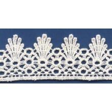 Bordes de cordón del spandex/nylon químico popular para vestido de novia de encaje