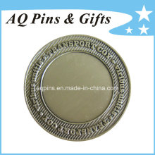Challenge Coin avec Antique Silver Plating (coin-091)