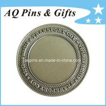 Moeda do desafio com chapeamento de prata antigo (coin-091)