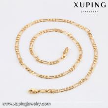 43281 -Xuping Boa qualidade cobre 18k colares cadeia atacado
