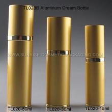 Aluminio oro crema botella
