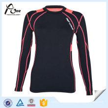 Lady OEM Sports Chemises à compression à froid Compression Vêtements