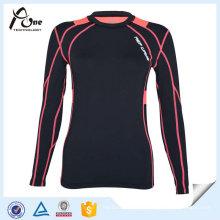 Senhora OEM Esportes Compressão Fria Camisas Vestuário Compressão