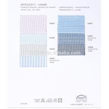Tela 100% de algodón indio 60% para camisas en diseño jacquared