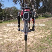 52mm Benzin Gas angetriebene Mini Hand Guardrail Post Driver Zaun Stapel Stapeln Driving Hammer Maschine Portable Ground Screw Driver